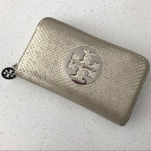 Tory Burch Gold Snake Skin Wallet